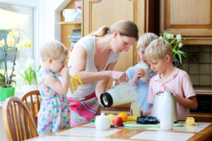 Protein Shake with kids